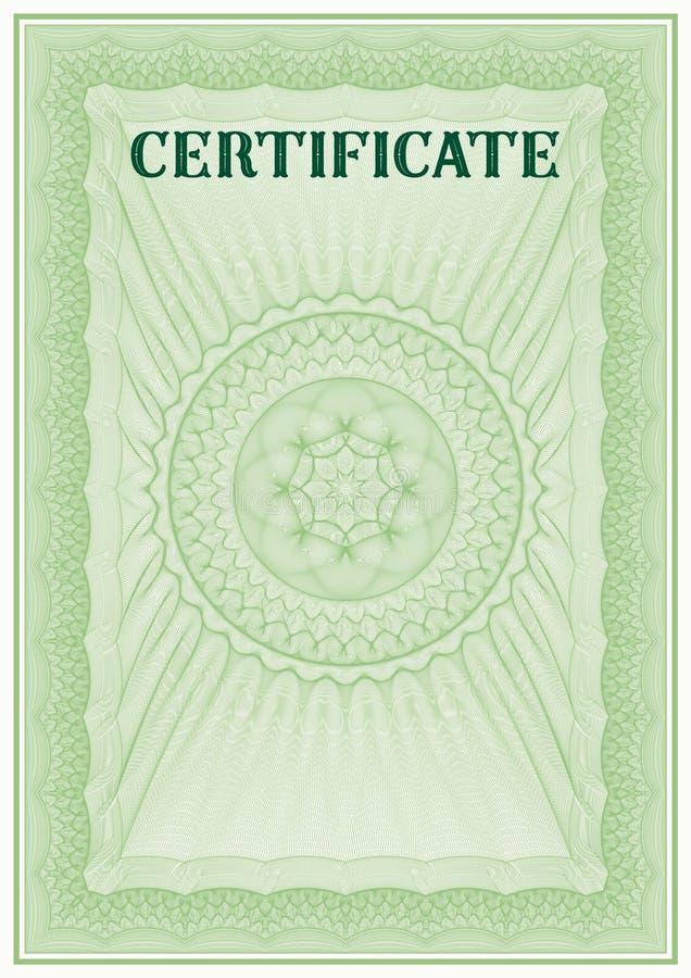 Modello di vettore del certificato dettagliato royalty illustrazione gratis