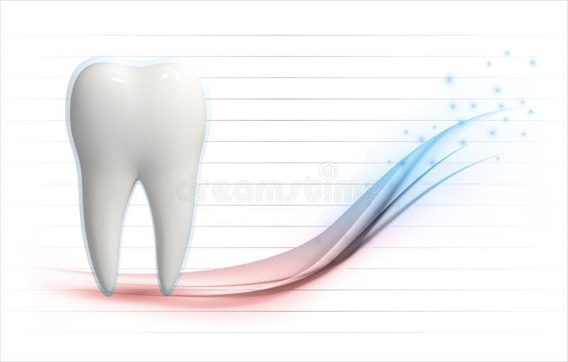 modello di vettore del livello di salute del dente 3d illustrazione vettoriale