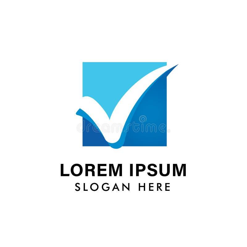 modello di vettore dell'icona di logo del segno di spunta della lettera v progettazione di simbolo dell'icona di voto illustrazione di stock