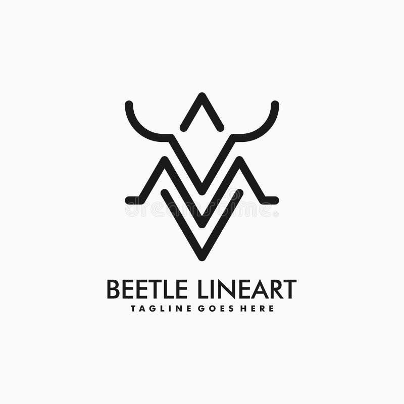 Modello di vettore dell'illustrazione dello scarabeo illustrazione di stock