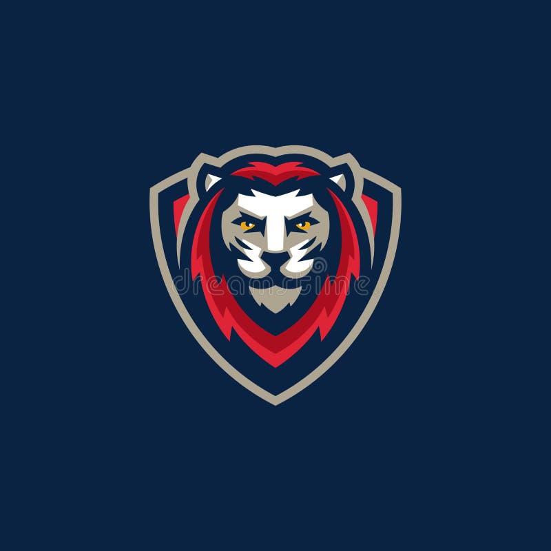 Modello di vettore dell'illustrazione di Lion Team Gaming di sport royalty illustrazione gratis