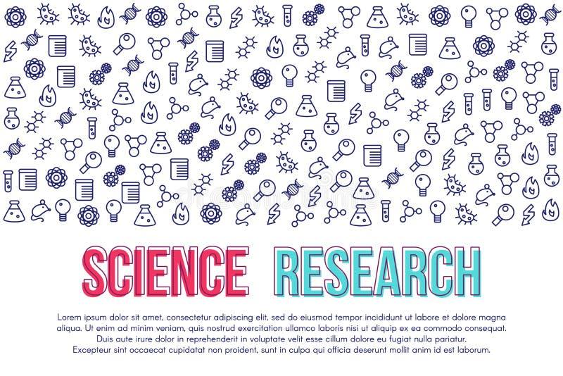 Modello di vettore dell'insegna di ricerca scientifica royalty illustrazione gratis
