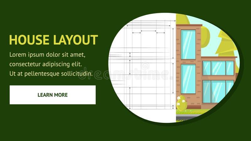 Modello di vettore della pagina Web della disposizione della Camera illustrazione di stock