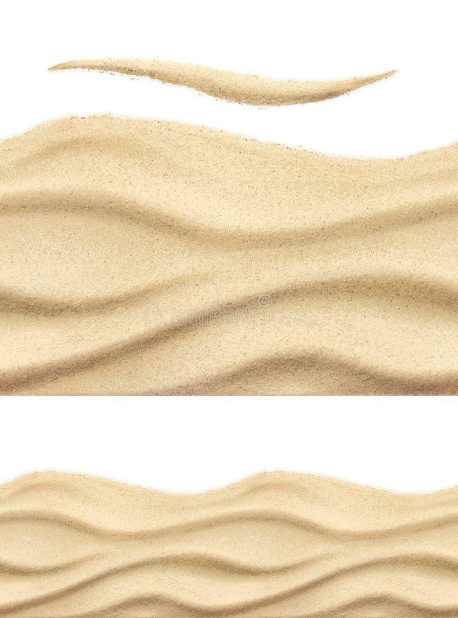 Modello di vettore della sabbia di mare illustrazione di stock