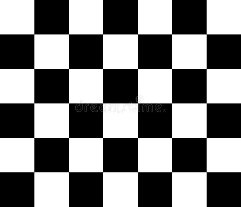 Modello di vettore della scacchiera in bianco e nero illustrazione vettoriale