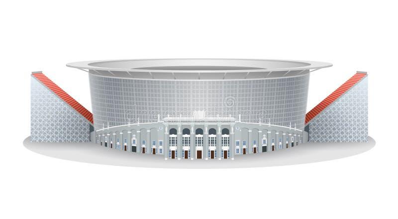 Modello di vettore dello stadio di football americano dell'arena di Ekaterinburg illustrazione vettoriale