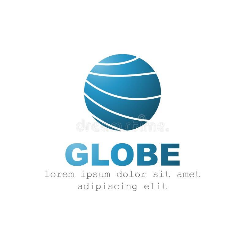 Modello di vettore di progettazione di logo del globo royalty illustrazione gratis