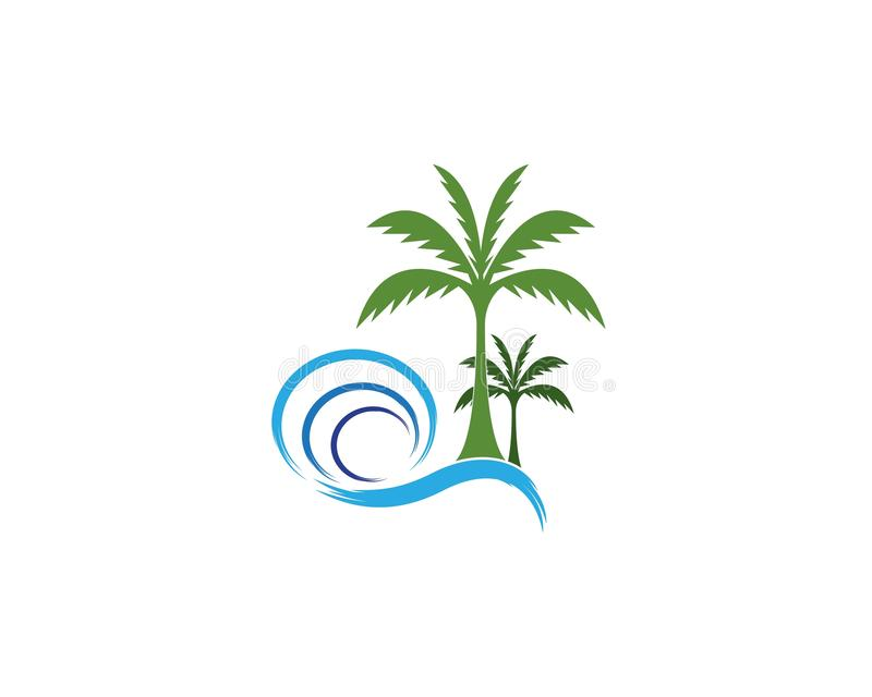 Modello di vettore di logo dell'icona del cocco illustrazione vettoriale