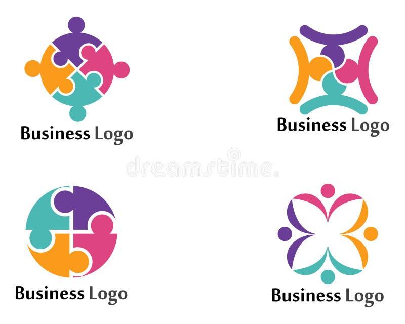 Modello di vettore di logo di simboli della rete sociale della Comunità illustrazione di stock