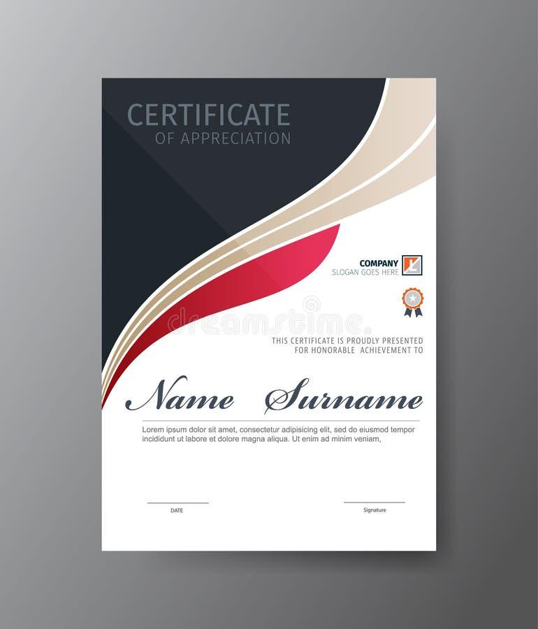 Modello di vettore per il certificato o il diploma fotografia stock