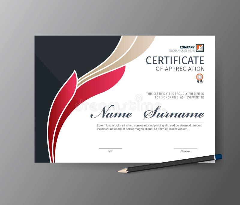 Modello di vettore per il certificato o il diploma fotografia stock libera da diritti
