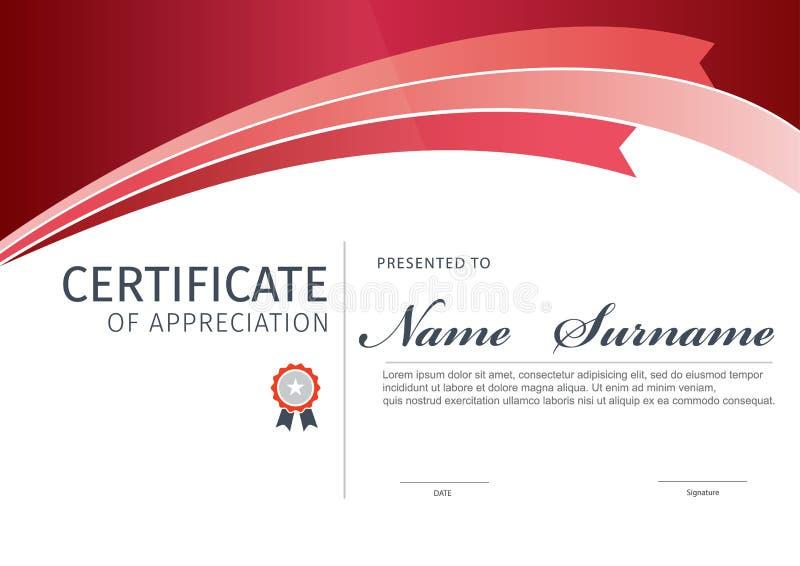 Modello di vettore per il certificato o il diploma fotografie stock