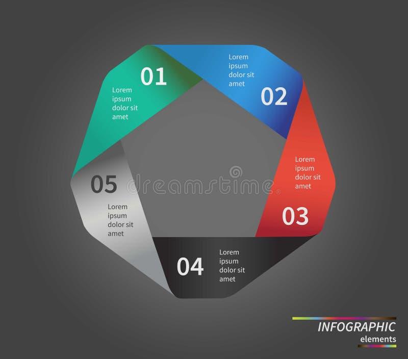 Modello di vettore per il diagramma del ciclo, grafico illustrazione vettoriale