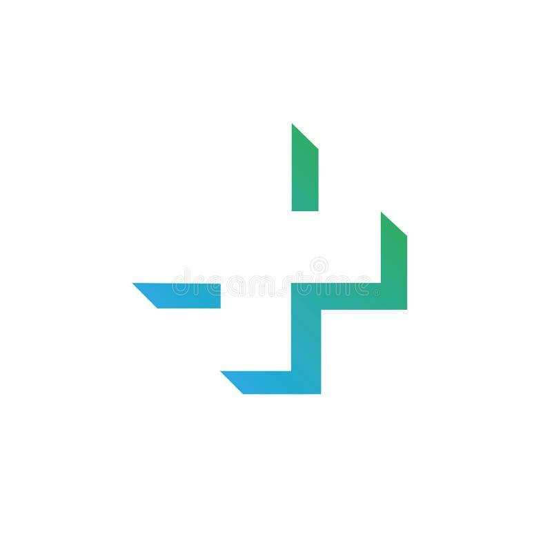 Modello di vettore di progettazione dell'estratto dell'incrocio di verde di Logo Medicine della farmacia Bio- concetto naturale d illustrazione vettoriale