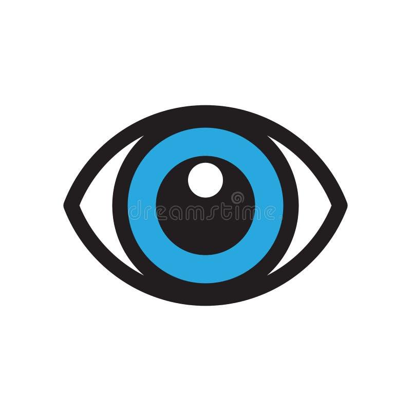 Modello di vettore di progettazione di logo dell'occhio Concetto creativo del Logotype di visione illustrazione di stock