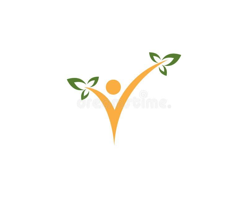 Modello di vettore di progettazione di logo della gente del segno di spunta royalty illustrazione gratis