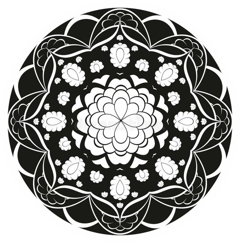 Modello di vettore rosetta del fiore illustrazione - Modello di base del fiore ...