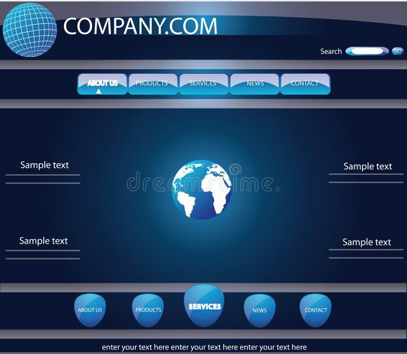 Modello di Web illustrazione di stock