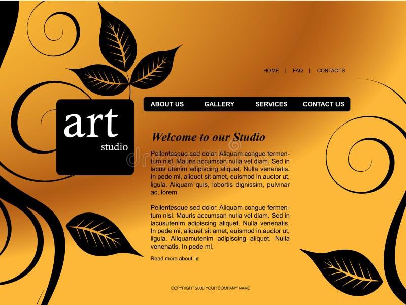 Modello di Web site illustrazione vettoriale