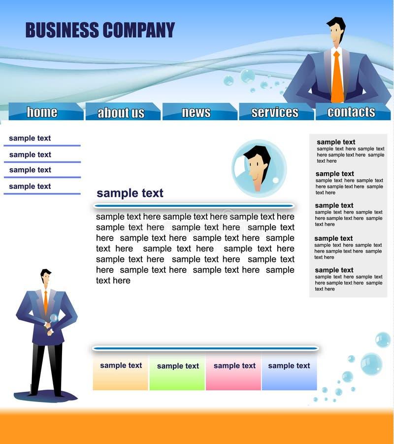 Modello di Web site illustrazione di stock