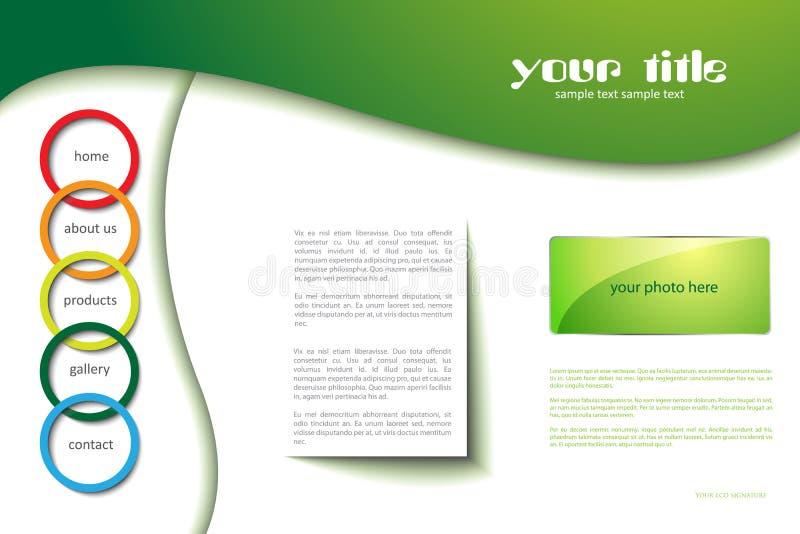 Modello di Web site con i cerchi royalty illustrazione gratis