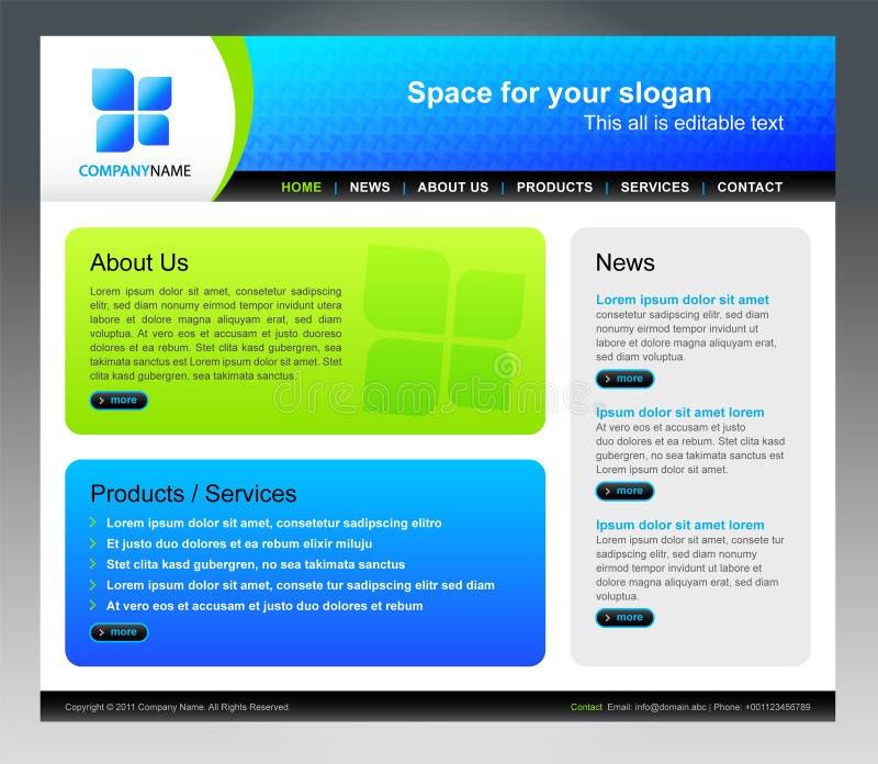 Modello di Web site di affari illustrazione vettoriale