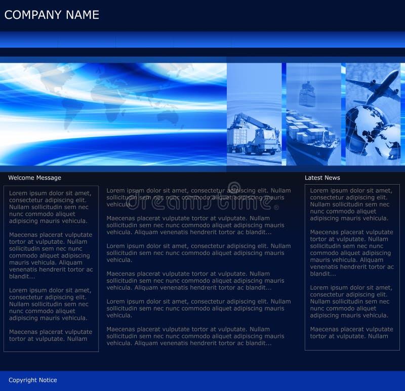 Modello di Web site di affari di trasporto illustrazione vettoriale