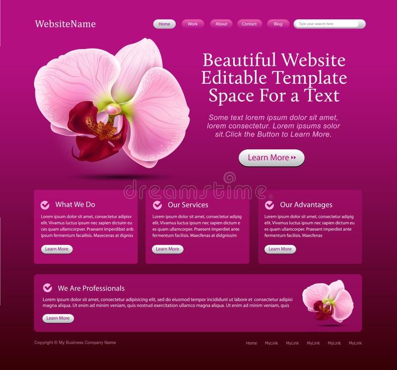 Modello di Web site di bellezza illustrazione vettoriale