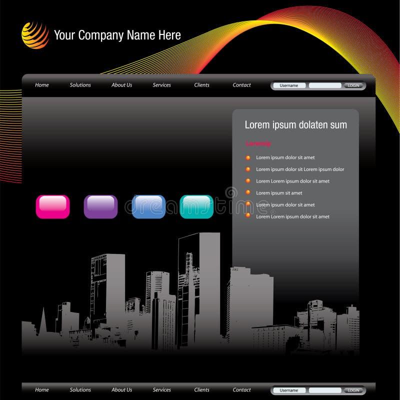 Modello di Web site di paesaggio urbano