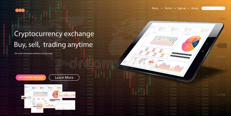 Modello di Web site I forex commercializzano, notizie e l'analisi royalty illustrazione gratis