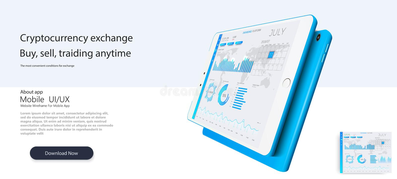 Modello di Web site I forex commercializzano, notizie e l'analisi Opzione binaria Schermo di applicazione per vendere Candele ed  illustrazione di stock
