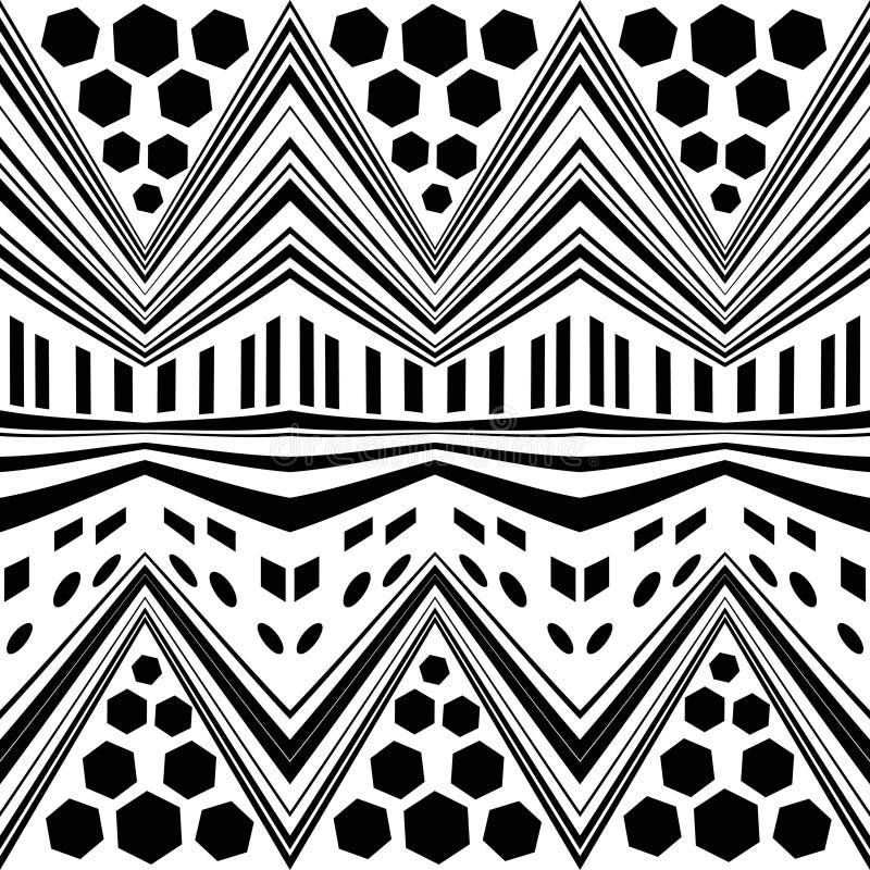Modello di zigzag moderno senza cuciture semplice del gallone royalty illustrazione gratis