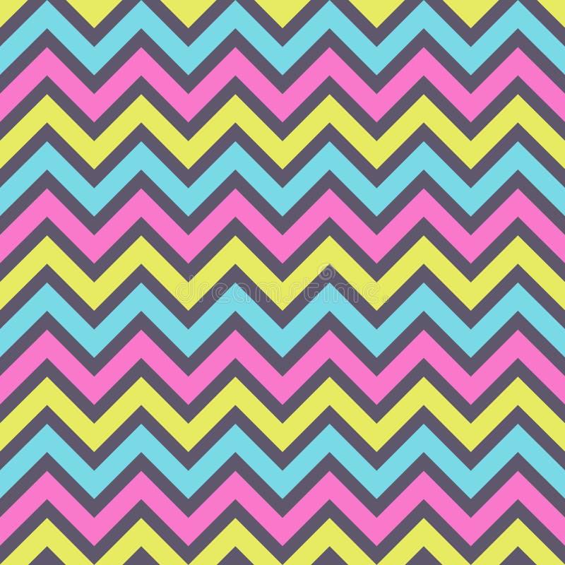 Modello di zigzag patternSeamless di modo di zigzag senza cuciture di modo Retro, colori pastelli Linee di colore di zigzag illustrazione di stock