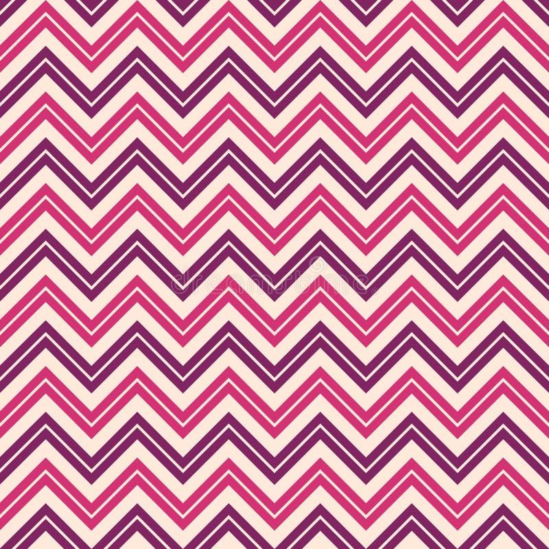 Modello di zigzag patternSeamless di modo di zigzag senza cuciture di modo Retro, colori pastelli Linee di colore di zigzag royalty illustrazione gratis