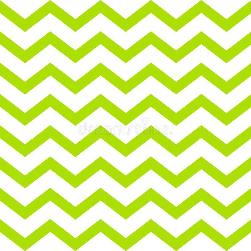 Modello di zigzag senza cuciture di vettore verde su fondo bianco fotografia stock libera da diritti