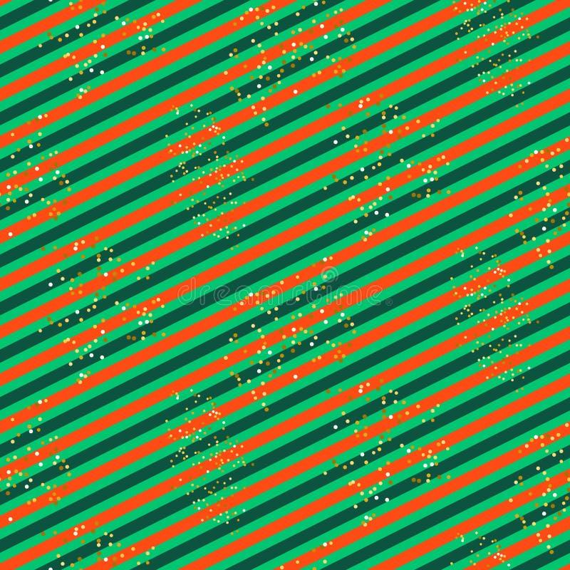 Modello diagonale della linea verde e di rosso con scintillio royalty illustrazione gratis