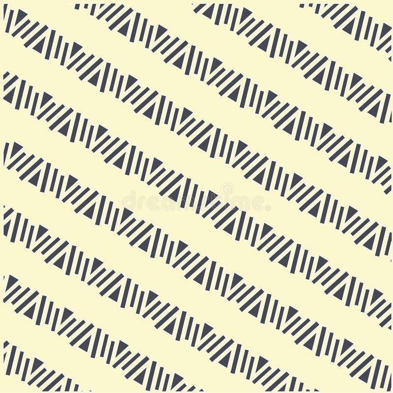Modello diagonale di forme geometriche senza cuciture, scuro su luce, vettore illustrazione vettoriale