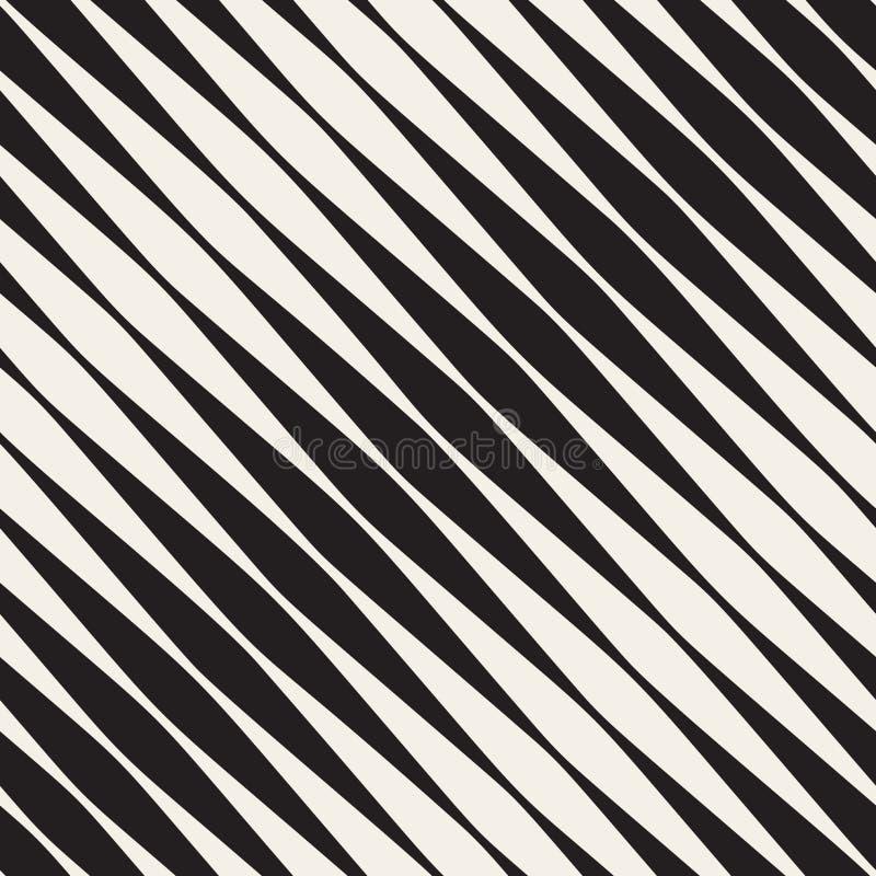 Modello diagonale di semitono in bianco e nero senza cuciture delle bande di vettore royalty illustrazione gratis