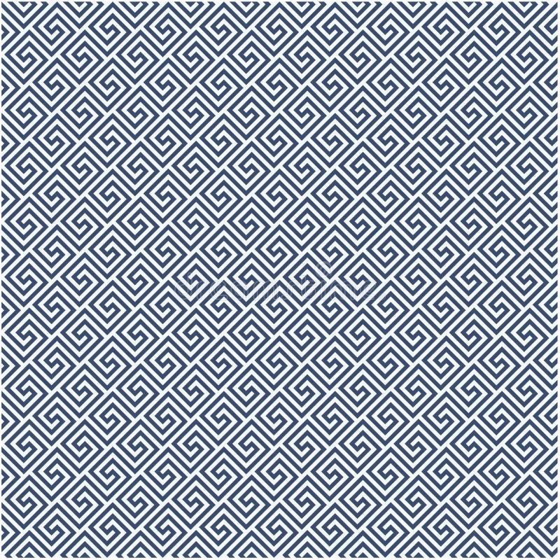 Modello diagonale di stile di meandro - fondo greco dell'ornamento royalty illustrazione gratis