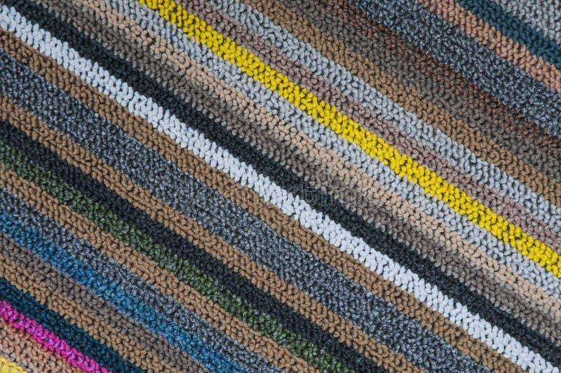 Modello diagonale di struttura del tappeto fotografia stock libera da diritti