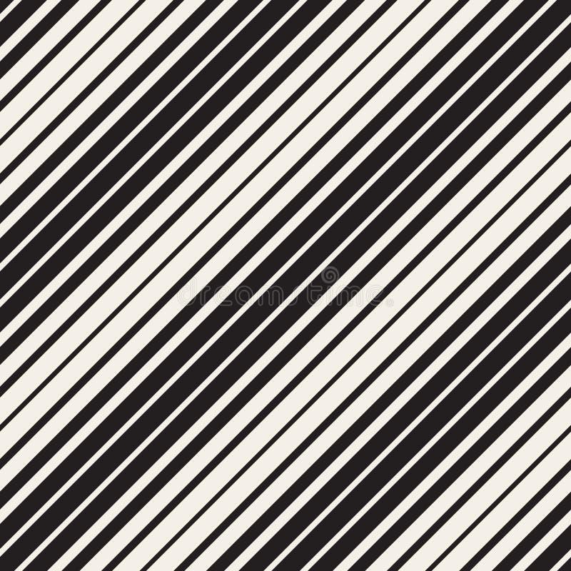 Modello diagonale parallelo in bianco e nero senza cuciture delle bande di vettore illustrazione di stock