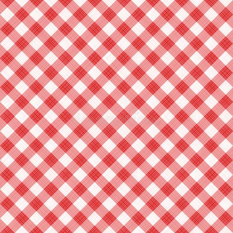 Modello diagonale rosso senza cuciture del percalle, o panno del tessuto royalty illustrazione gratis