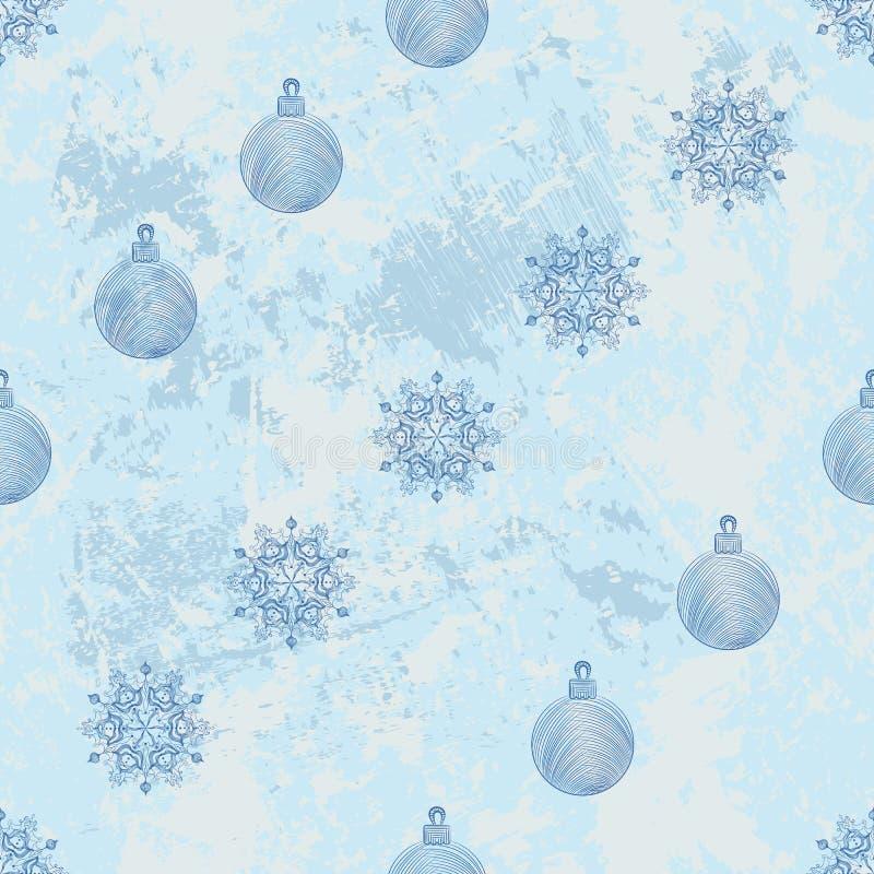 Modello diagonale senza cuciture con i fiocchi di neve illustrazione di stock