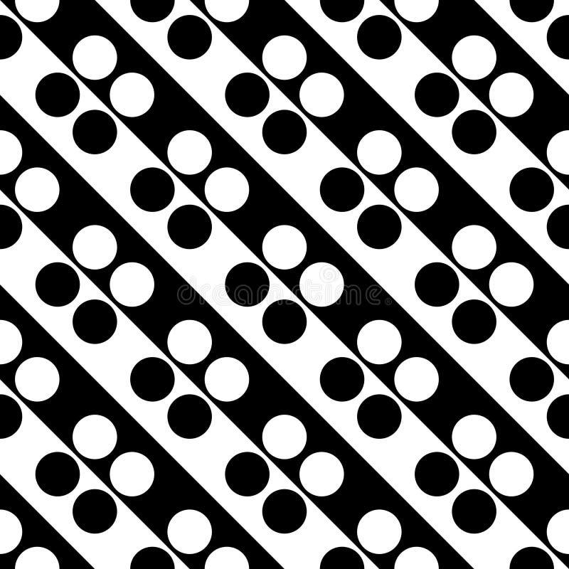 Modello diagonale senza cuciture del cerchio e della banda royalty illustrazione gratis