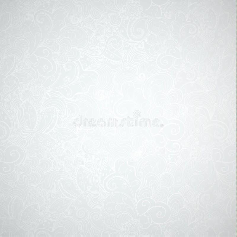 Modello disegnato a mano grigio astratto neutrale illustrazione di stock