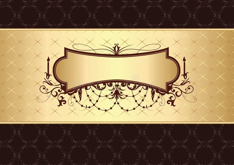 Modello dorato dell'annata illustrazione vettoriale
