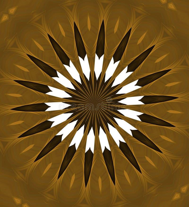 Modello dorato, fondo astratto illustrazione di stock
