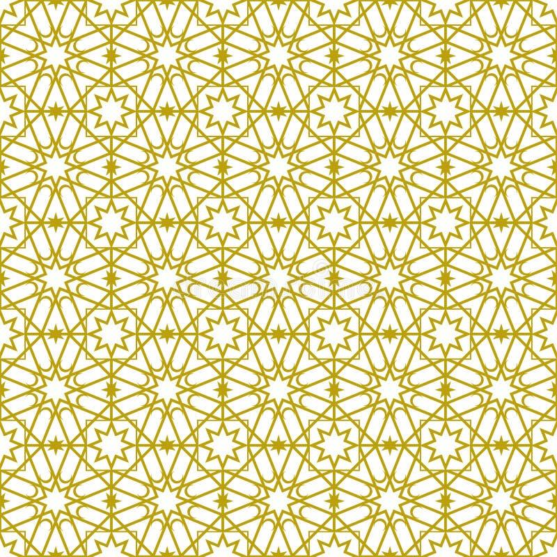 Modello e motivo islamici dell'ornamento fotografie stock