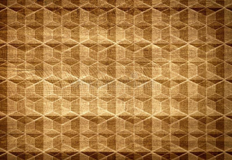 Modello e struttura di legno di Brown da geometrico fotografia stock