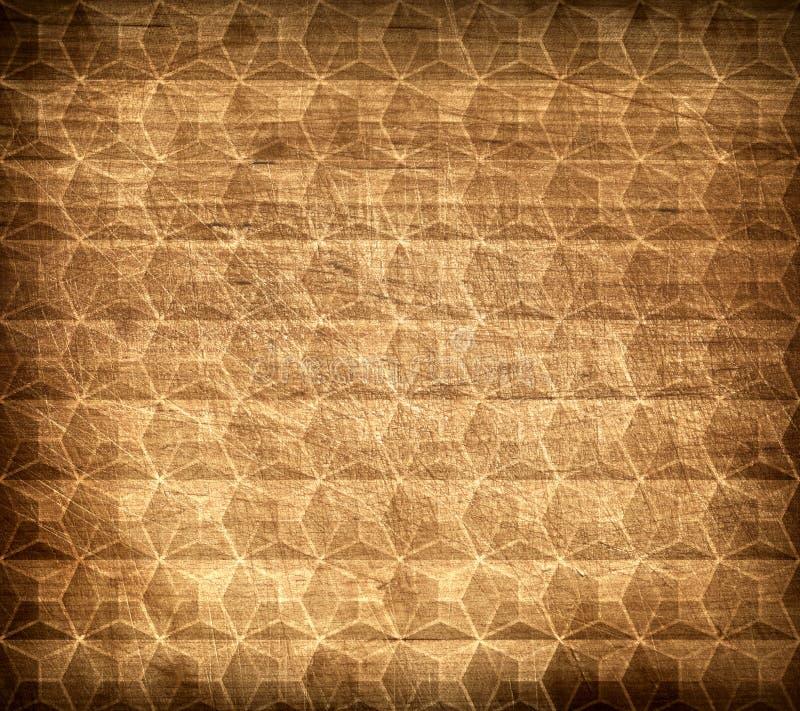 Modello e struttura di legno di Brown da geometrico fotografia stock libera da diritti